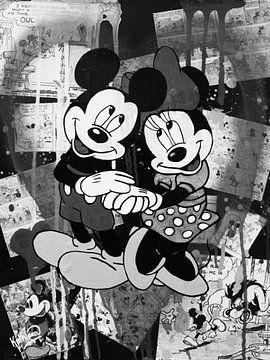 Mickey und Minnie Maus - Verliebt von Kathleen Artist Fine Art