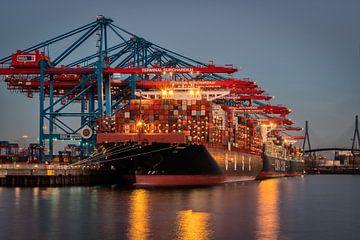 Port à conteneurs de Hambourg sur Steffen Peters
