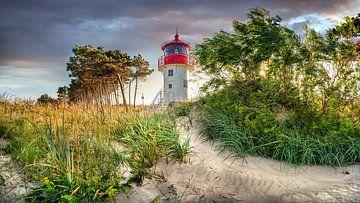 Leuchturm Gellen am Strand von der Insel Hiddensee von Voss Fine Art Photography