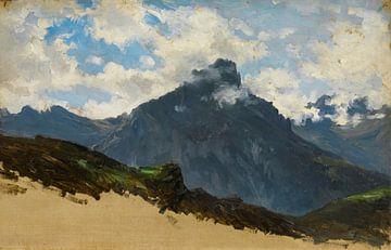 Carlos de Haes-Bergen vom Hafen von Pajares, Antike Landschaft