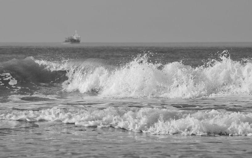 Schip op zee van MSP Canvas
