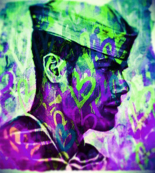 Motiv Jean Love Deep Colour Pop Art PUR van Felix von Altersheim