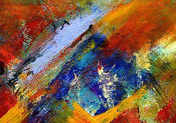 """Abstracte schilderkunst """" kleurrijke schaduwen """" van Claudia Gründler"""