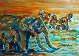 Durstige Elefanten von Eye to Eye Xperience By Mris & Fred
