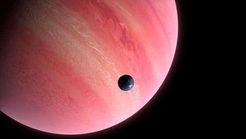 Bewoonbare maan bij een gasplaneet van Arjan Schrauwen