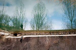 Reflectie op een meer van