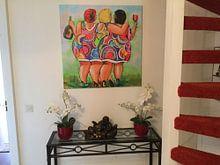 Klantfoto: Cheers van Vrolijk Schilderij, op canvas