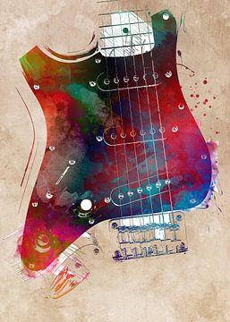 Gitaar 22 muziekkunst #gitaar #muziek van JBJart Justyna Jaszke