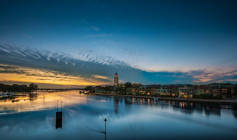 Deventer zonsondergang 2 van Lex Scholten