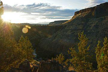 Zonsondergang in de Crooked River Canyon van Jeroen van Deel