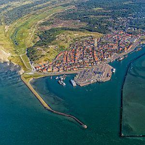 Dorp en haven Terschelling van