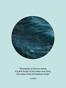 Zee Print met Inspirerende Quote van Gandhi van MDRN HOME