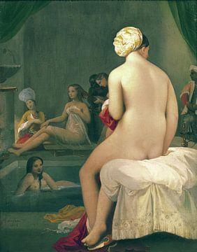 Nackter Badender im Harem, Jean Auguste Dominique Ingres - 1828