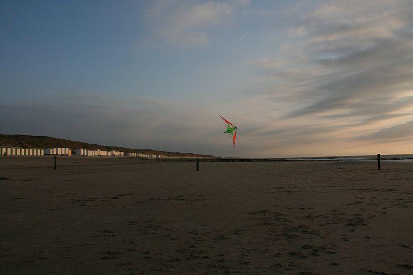 Vlieger boven het strand van Toekie -Art