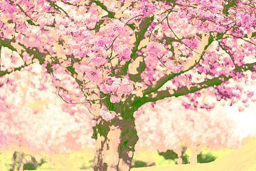 Blühender Baum von Renske Schut