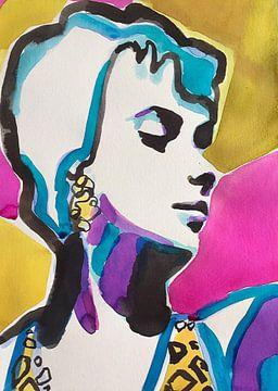 Swinging Swimsuit van Helia Tayebi Art