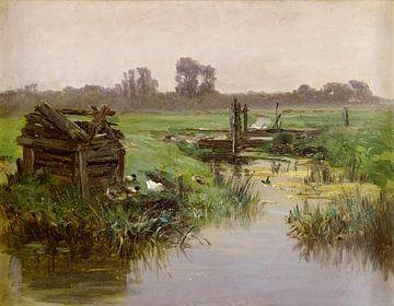 Carlos de Haes-Entenlandschaft, Antike Landschaft