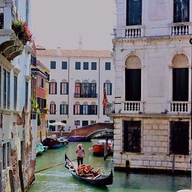 Ce monde - Vue sur le canal de Venise sur Loretta's Art