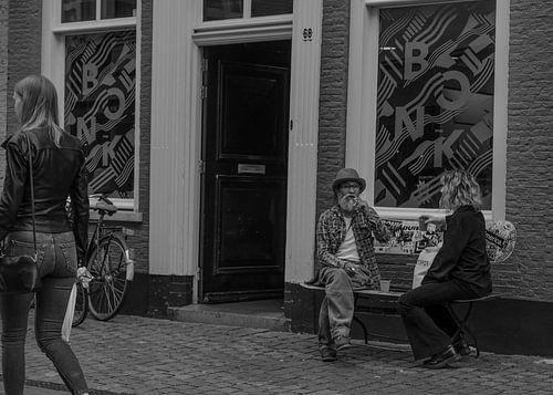 Zwart Wit Straatfoto van