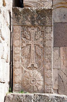 Armeense chatsjkar bij Goshavank uit 1291 van Anne Hana