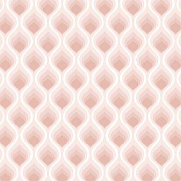 Retro modern -Symmetrisch jaren '70 patroon van Studio Hinte