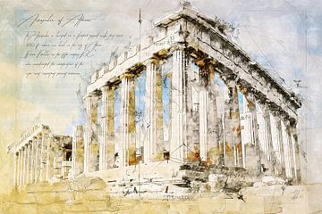 Akropolis, Athen von Theodor Decker