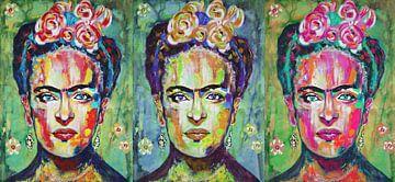 """Frida Kahlo """"Dreifache Farben von Kathleen Artist Fine Art"""