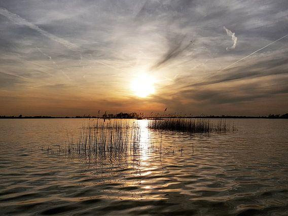 Zonsondergang op Loosdrecht