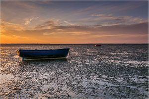 Bootjes bij zonsondergang van