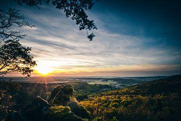 Paysage d'automne au coucher du soleil sur Fotos by Jan Wehnert
