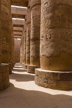 Karnak Pillars von Sake van Pelt