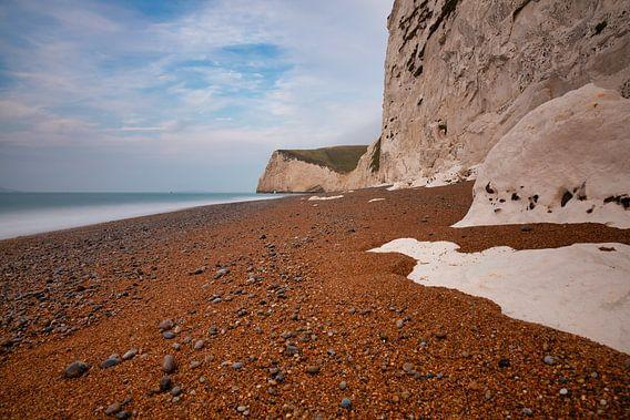 Krijtsteen aan de kust van Zuid West Engeland