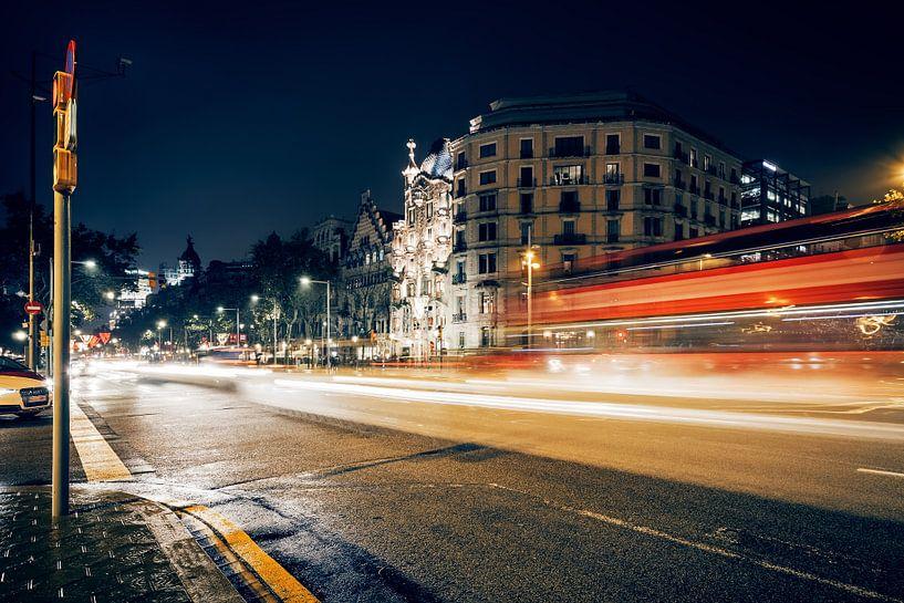 Barcelona – Passeig de Gracia / Casa Batllo van Alexander Voss