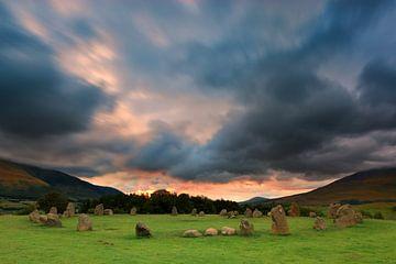 Zonsopkomst Castlerigg, Lake District, England. van Henk Meijer Photography