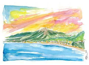 Baie de Saint Jean Caribische zonsondergang in St Barths van Markus Bleichner