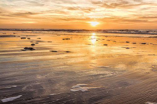 Seelandschaft mit der Küste der Nordsee