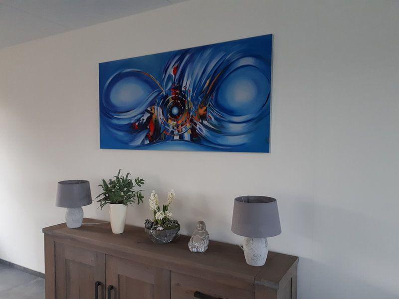 Klantfoto: Blue van Gena Theheartofart, op print op doek