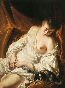 Jean- Baptiste Deshayes, Schlafende Frau - 1758 von Atelier Liesjes