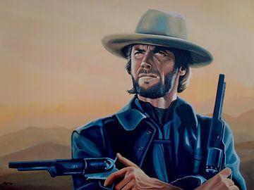 Clint Eastwood painting sur Paul Meijering
