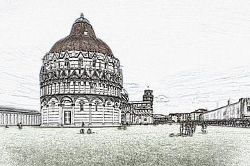 Pisa, Italië van Gunter Kirsch