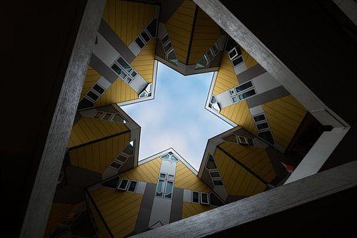 Kubuswoningen in Rotterdam (Blaak) van