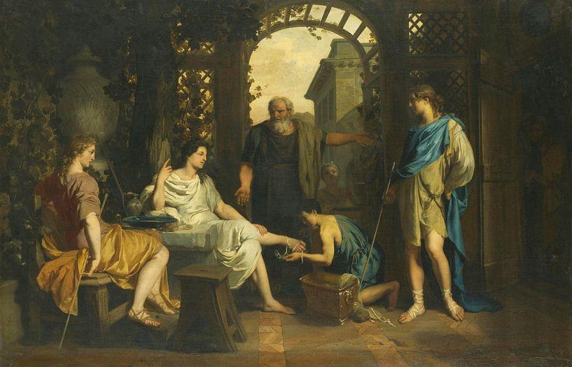 Abraham empfängt Engel, Gerard de Lairesse von Meesterlijcke Meesters