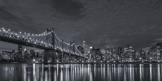 New York Skyline - Queensboro Bridge (3) van Tux Photography