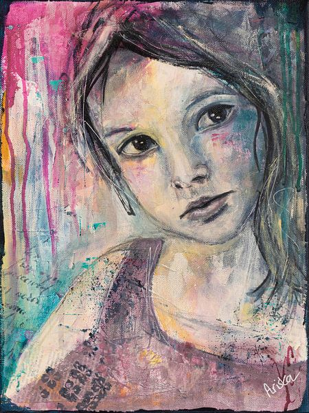 Lovely Lady 2 van Flow Painting
