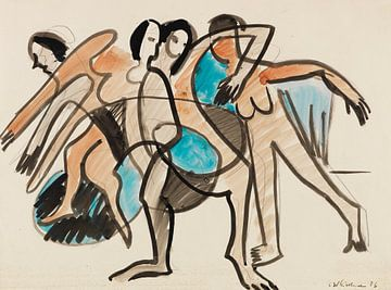Tanzgruppe, ERNST LUDWIG KIRCHNER, 1926 von Atelier Liesjes