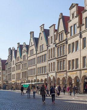 Prinzipalmarkt, zadeldakhuizen, Münster, stad, Westfalen van Torsten Krüger