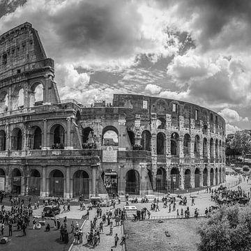 Italië in vierkant zwart wit, Rome von Teun Ruijters