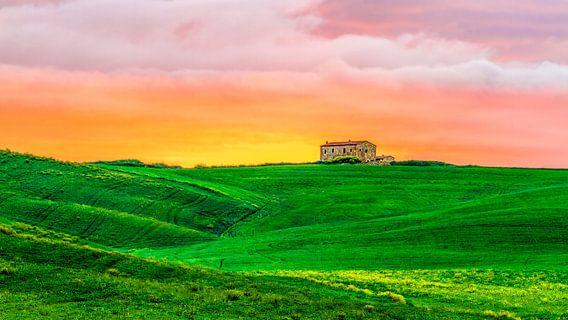 Sunrise in Val d'Orcia, Tuscany. van Teun Ruijters