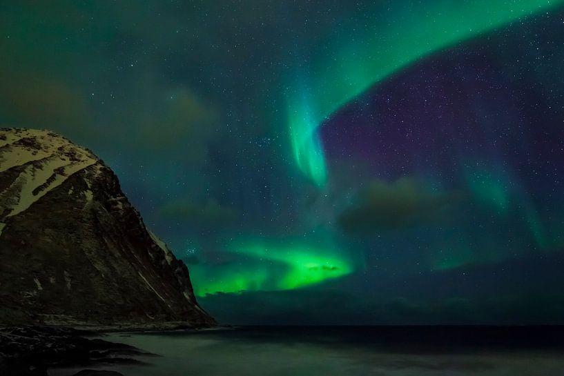 Poollicht gordijn in groen van Karla Leeftink
