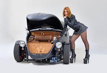 Volkswagen Kever met Jack-Daniels van Willem van Holten